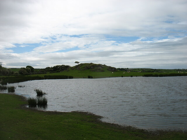 Pond beside the B5109 at Llandrygan