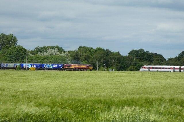 Trains near Hambleton Junction