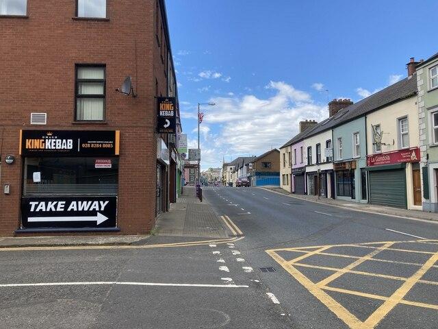 Road junction Market Street, Omagh