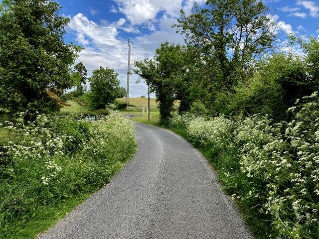 Bend along Camowen Road