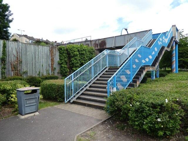 Footbridge over the railway, Bedminster