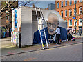 SJ8498 : Painting Captain Tom at Tib Street by David Dixon