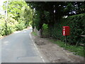 TL8838 : Henny Road & Shalford Green Postbox by Geographer