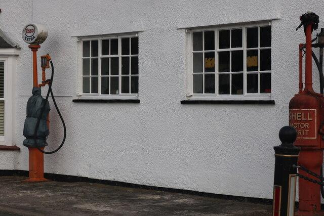Old petrol pumps in Somersham