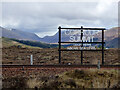 NN3566 : Corrour Summit sign by Thomas Nugent