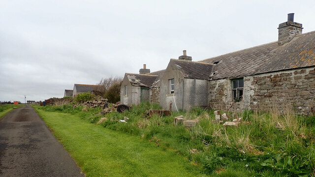Abandoned cottage, Oldhall by Mick Garratt