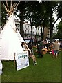 SP3165 : Soap-maker's tipi, Leamington Peace Festival by Alan Paxton