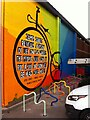 SP3379 : James Starley bicycle mural, Pool Meadow bus station, Coventry by Alan Paxton