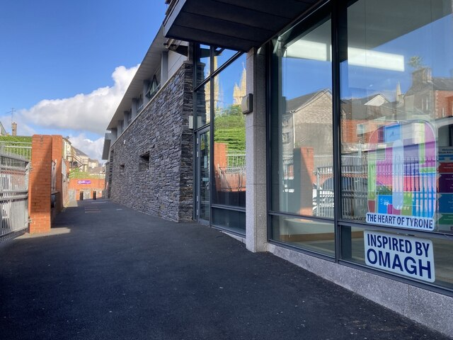 Window reflections, Strule Arts Centre, Omagh