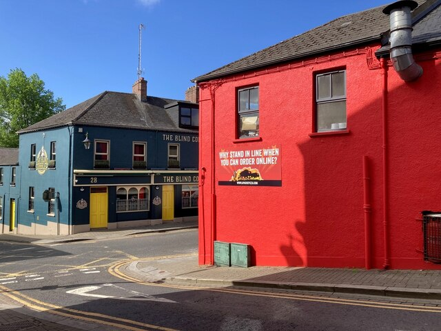 Colourful buildings, Omagh