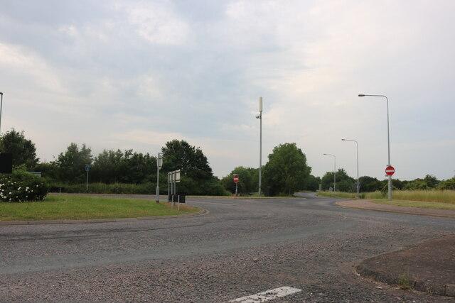 Roundabout on Thrapston Road, Brampton