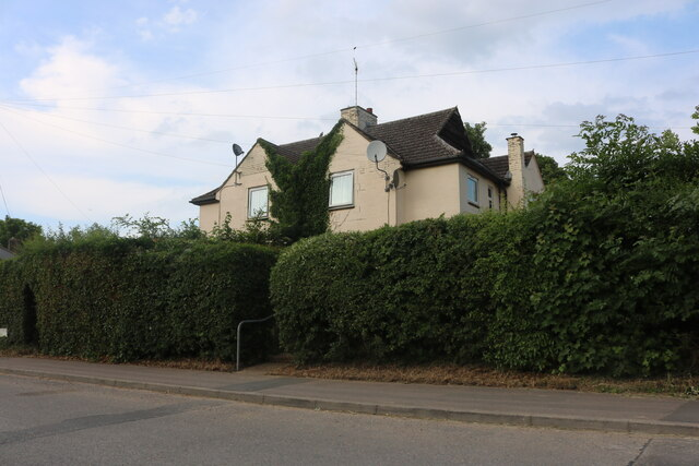 Semi-detached houses on Ermine Street South, Papworth Everard