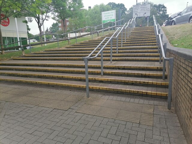 Stairs from Asda to Forty Lane, Wembley Park