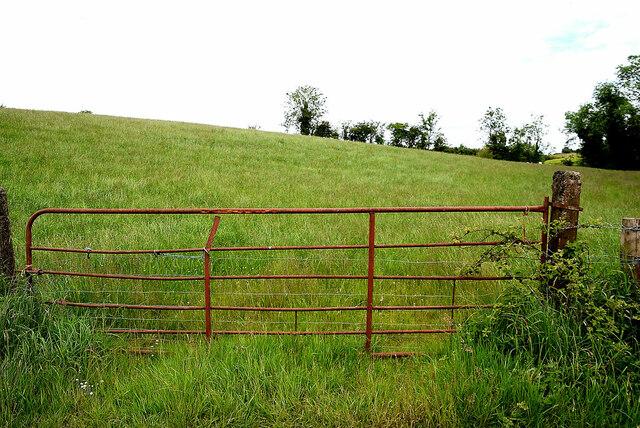 Rusty gate to field, Tattyreagh Glebe