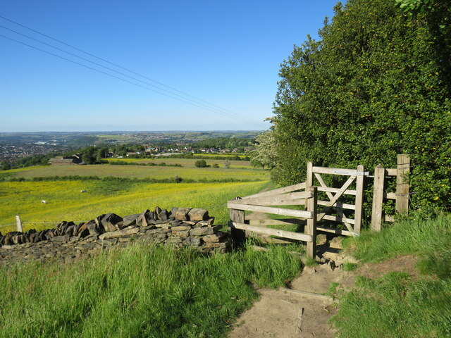 Gate on a path near Huddersfield