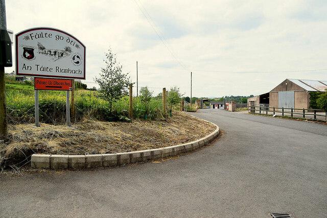 Entrance to Tattyreagh GAA Football grounds