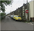 SO1501 : Houses, cars and wheelie bins, Station Terrace, Brithdir by Jaggery