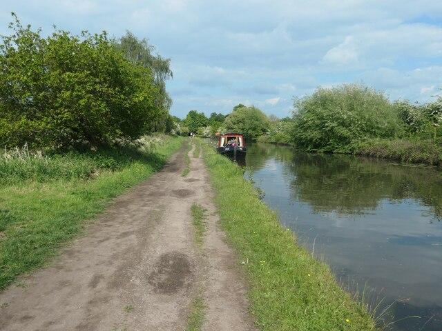 Moored narrowboat, Bridgewater canal