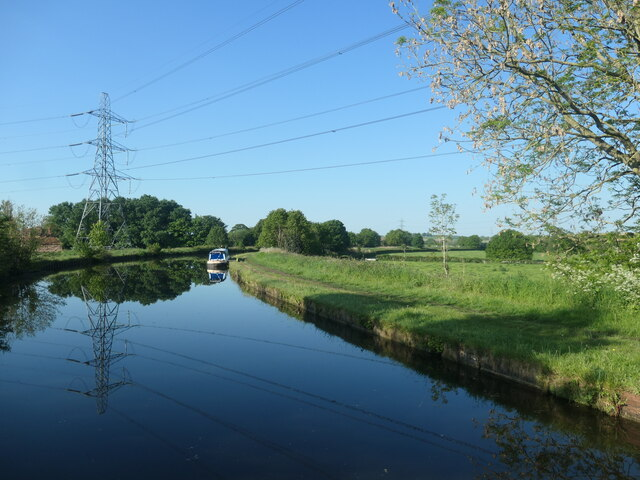 Power lines crossing the Bridgewater canal