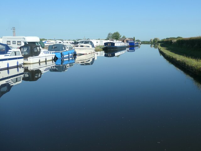 The eastern end of Lymm Marina