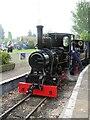 SK2406 : Statfold Barn Railway - mind the gap by Chris Hodrien