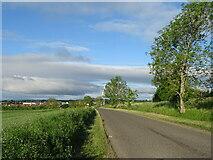 NO4334 : Minor road, Barns of Wedderburn by JThomas