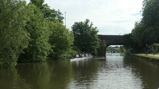 Rowing eight on the Bridgewater canal, Timperley