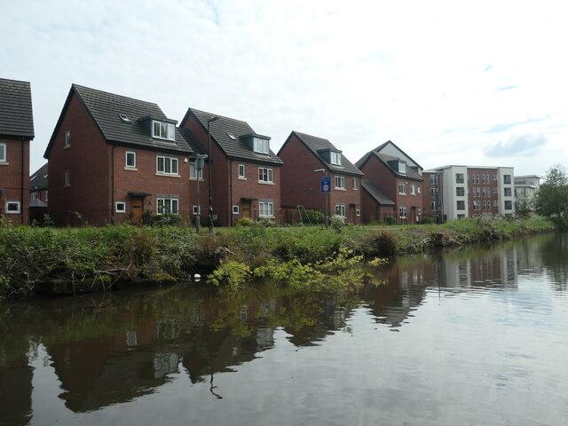 Canalside houses near the Bridge Apartments