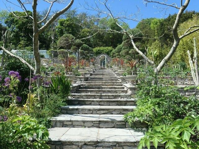 Steps up the Italian Terrace, Yewbarrow House