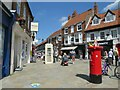 TA0339 : Post box and phone box at Wednesday Market, Beverley by Malc McDonald