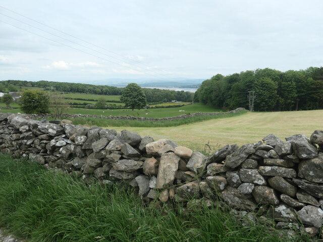 Farmland and woodland, west of Eden Mount