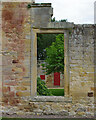 NZ0878 : Window, Belsay Castle by Ian Taylor