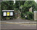 SO8005 : Queen's Road litter bin near an entrance to Stonehouse railway station by Jaggery