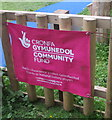 SO4910 : National Lottery Community Fund banner,  Mitchel Troy, Monmouthshire by Jaggery