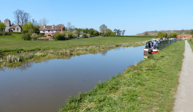 Worcester and Birmingham Canal at Oddingley