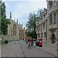 TL4458 : Cyclists on Trinity Street by John Sutton