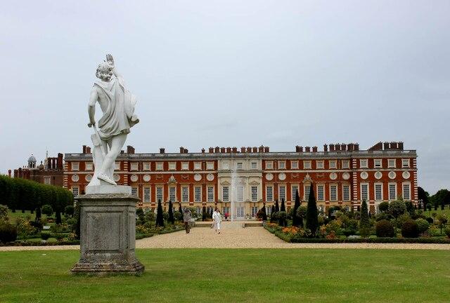 Hampton Court Palace - the statue of Apollo