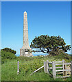 TR3745 : Memorial and Windswept Tree by Des Blenkinsopp