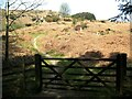 SD2789 : Gate on The Cumbria Way, Cockenskell Bridge by Adrian Taylor
