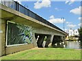 TL1860 : St Neots - Bridge Mural by Colin Smith