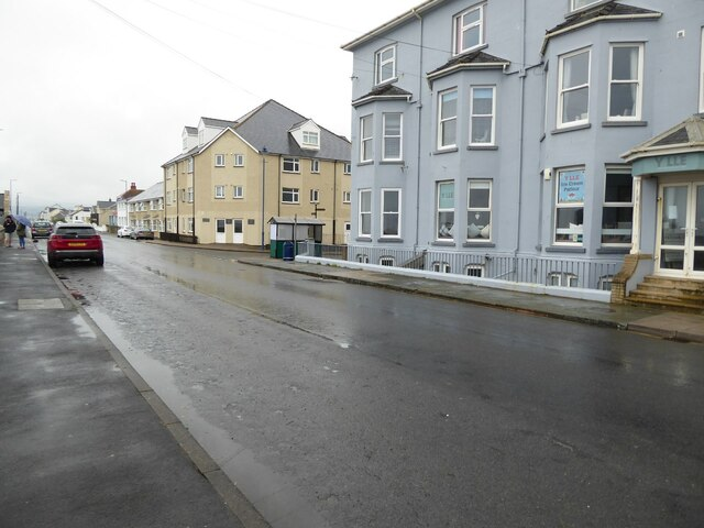 Buildings on the seafront, Borth