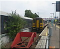 ST1586 : End of the line, Platform 1, Caerphilly station by Jaggery