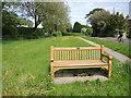 ST9176 : Commemorative seat in Langley Ridge by Neil Owen