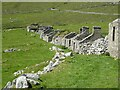 NF1099 : St Kilda - Hirta - Village Street - roofless houses looking west by Rob Farrow
