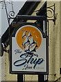 SD3074 : Sign for the Ship Inn, Bardsea by JThomas