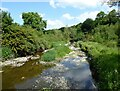 NY6718 : Hoff Beck downstream from Bandley Bridge by Adrian Taylor