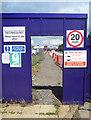 SP7816 : Door to the Building Site by Des Blenkinsopp