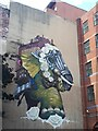 SE2933 : Elephant mural in Leeds city centre by Stephen Craven
