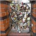 SJ8497 : Love padlocks on Oxford Street by Gerald England