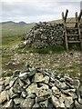 J2625 : Stile at corner of Batt's Wall, summit of Pigeon Rock Mountain by Philip Cornwall